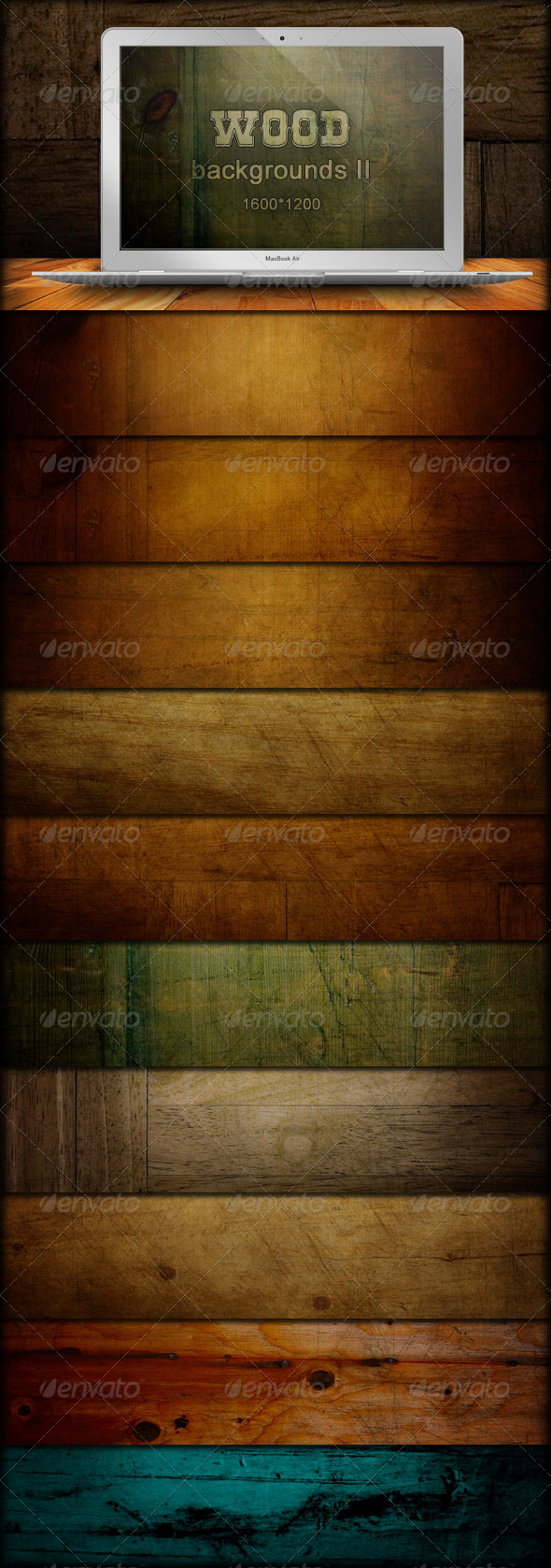 Wood Backgrounds - Grunge Grain - Backgrounds Graphics