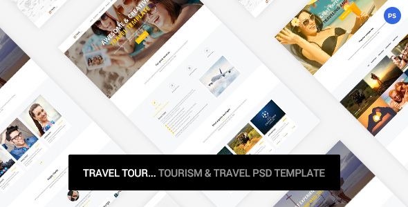 Travel Tour – tourism & travel PSD Template