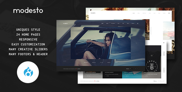 Modesto – Power Unique Portfolio, Photography & Agency Drupal 8 Theme