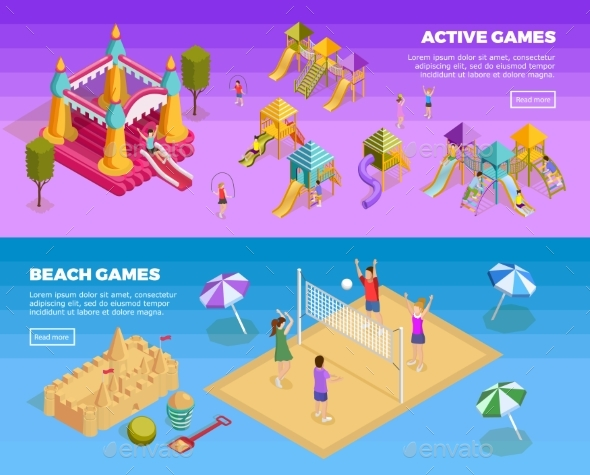 Playground Banner Set - Sports/Activity Conceptual