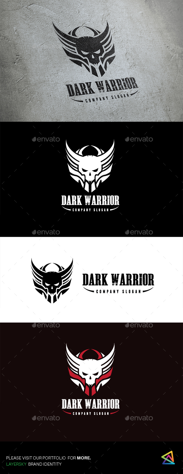 Dark Warrior II - Humans Logo Templates