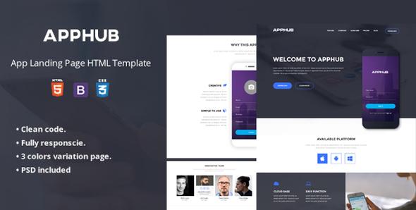 Apphub App Landing Page