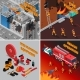 Fireman Isometric Concept - GraphicRiver Item for Sale