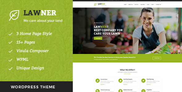 Lawner – Gardening and Landscaping WordPress theme