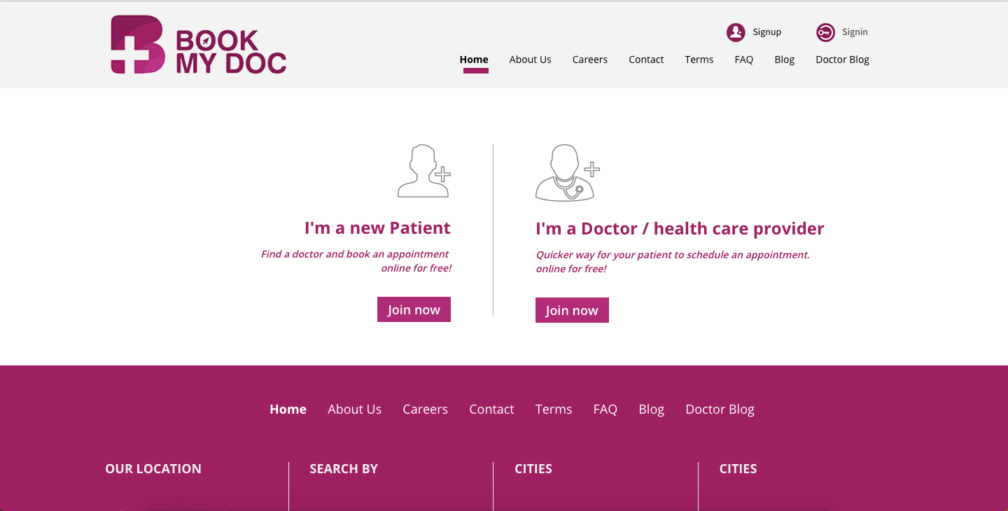 Online Doctor Appointment Booking System - Book My Doctor
