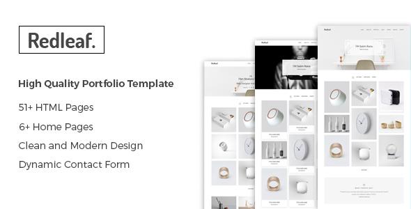 Redleaf - Minimal Portfolio Template - Portfolio Creative