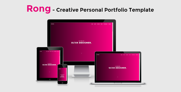Rong – Creative Personal Portfolio Template