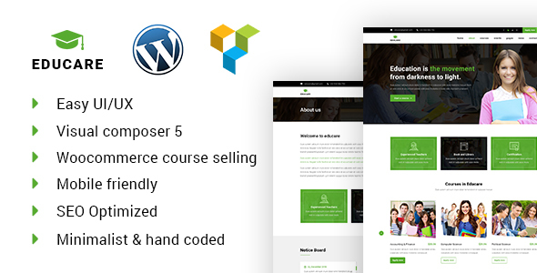 EduCare – Learning & Academy WordPress Theme