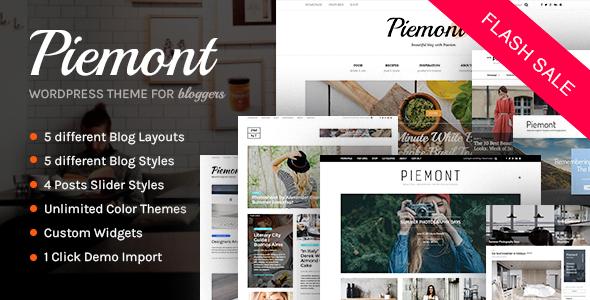 Piemont - Premium Responsive WordPress Blog Theme - Personal Blog / Magazine