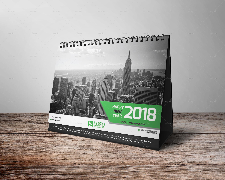 Desk Calendar 2018 By Zakirhossen Graphicriver