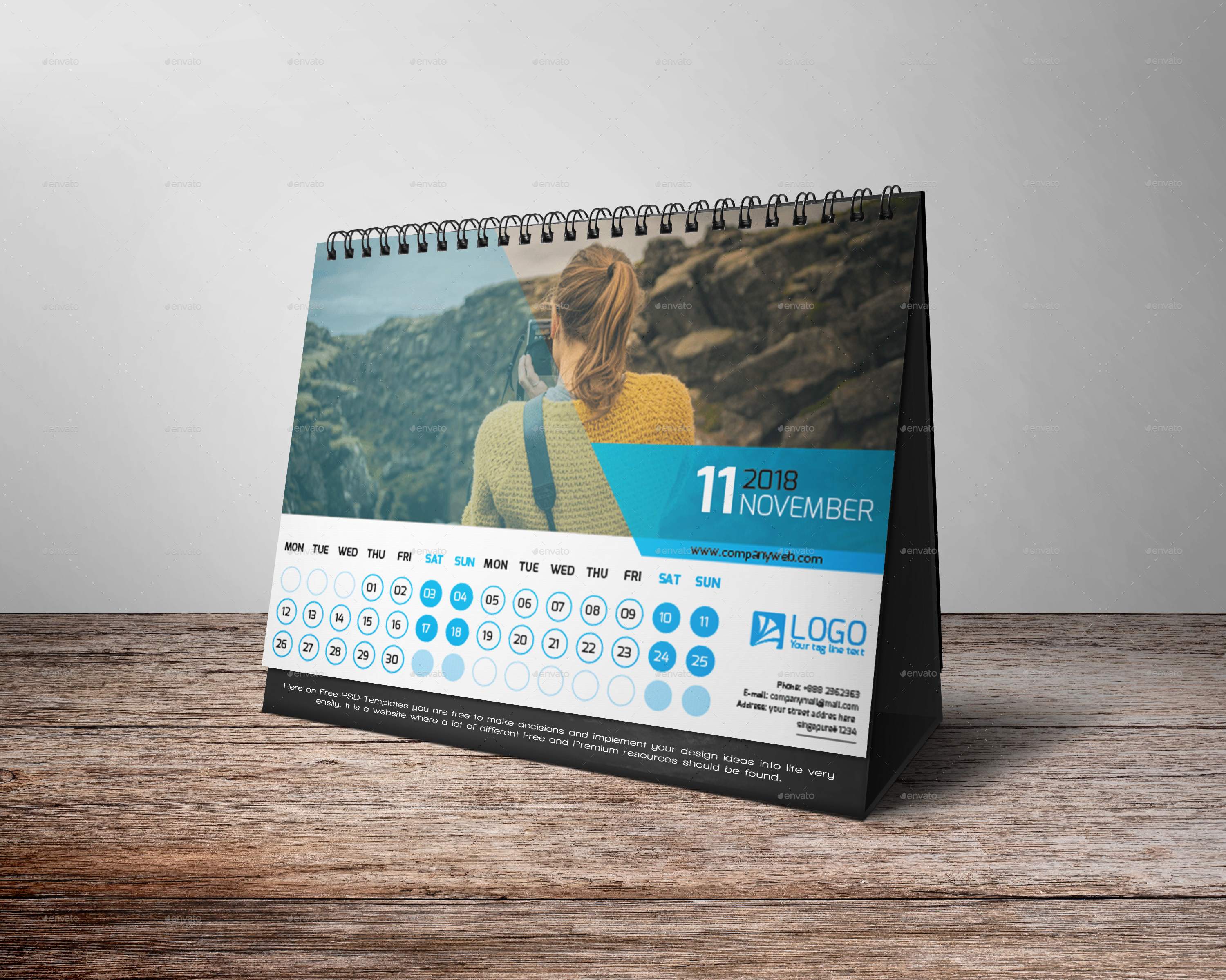 Desk Calendar 2018 By Zakirhossen Graphicriver