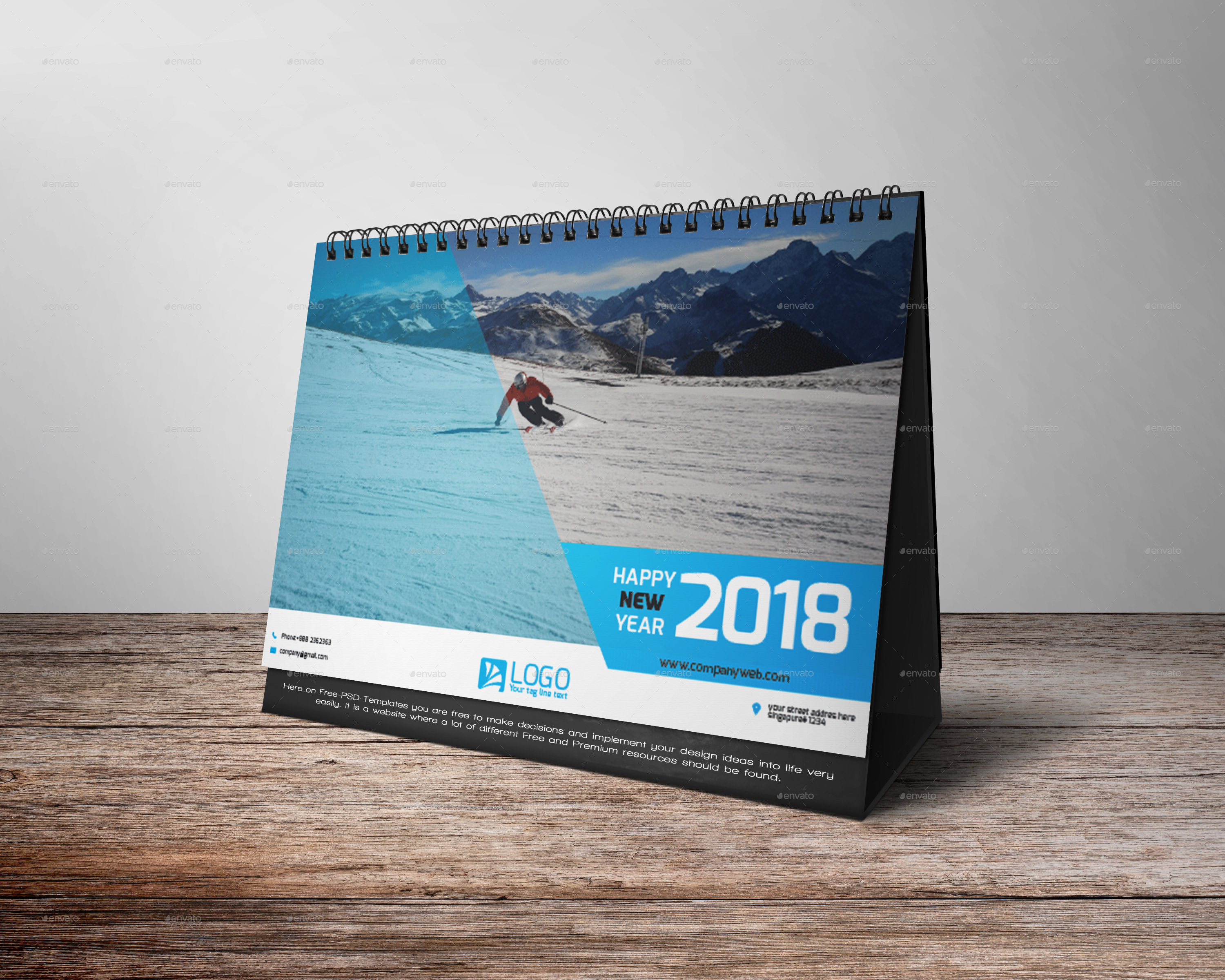 Calendar Cover 2018 : Desk calendar by zakirhossen graphicriver