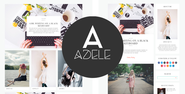 Adele – Clean WordPress Blog Theme