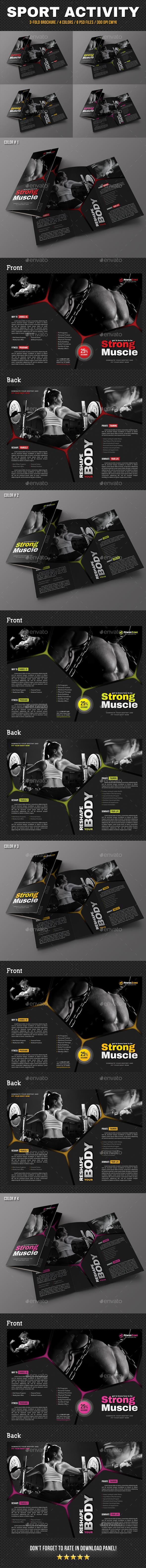 Sport Activity 3-Fold Brochure V05 - Brochures Print Templates