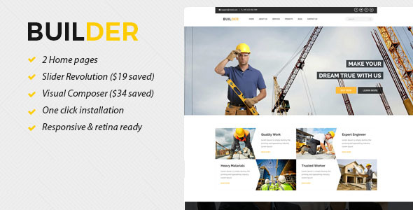 Builder - Construction and Builder WordPress Theme - Business Corporate