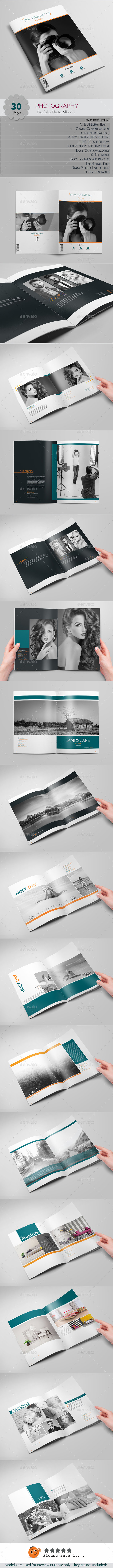 Photography Protfolio - Photo Albums Print Templates