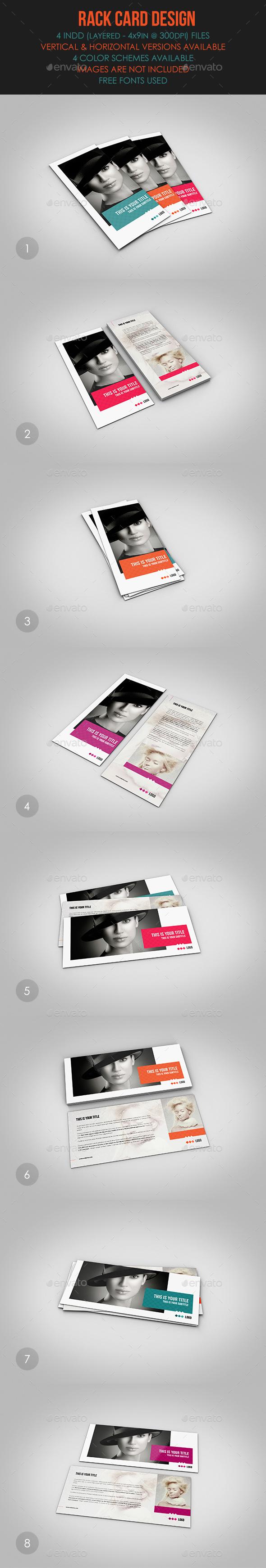 Rack Card Design - Flyers Print Templates