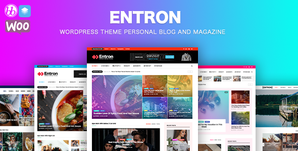 Entron  - Newspaper theme, Personal blog and magazine - News / Editorial Blog / Magazine