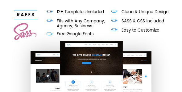 RAEES – Multipurpose HTML5 Responsive Template