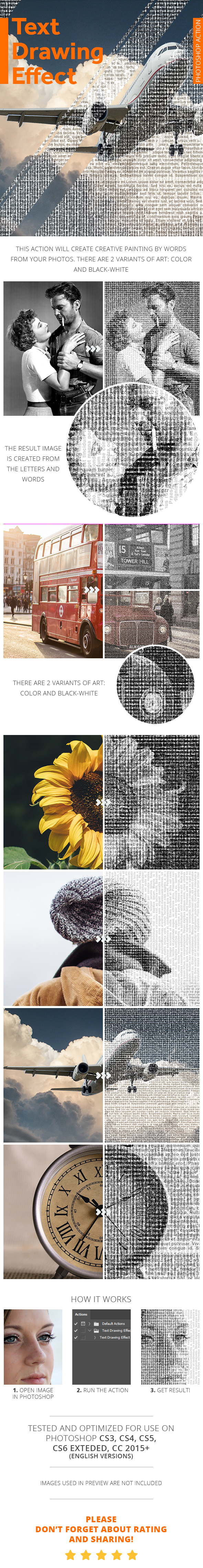 Text Drawing Effect - Photoshop Action - Photo Effects Actions