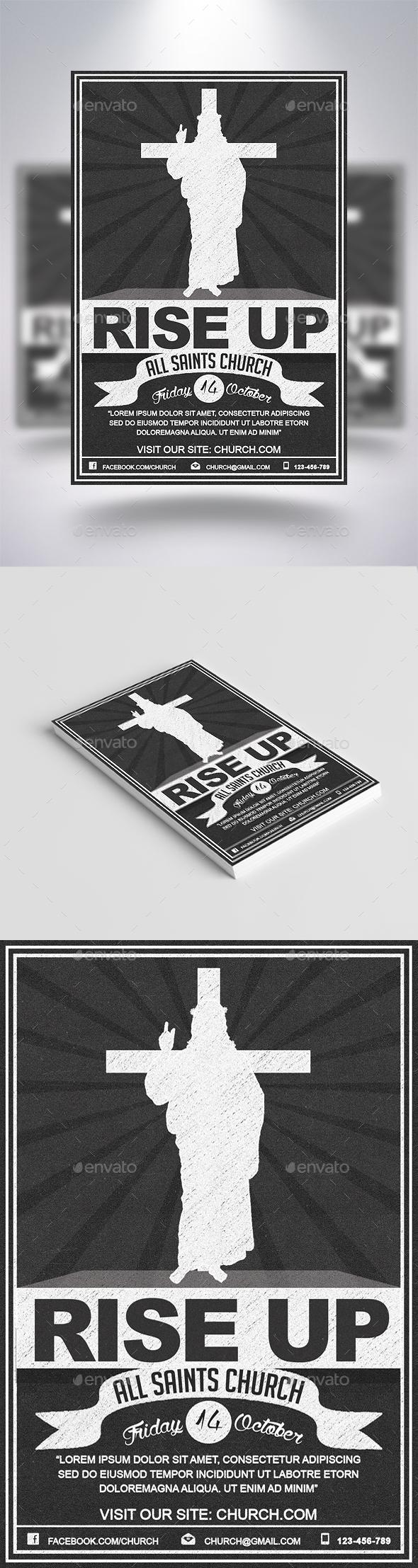 Rise Up Retro Flyer