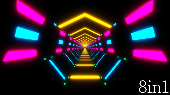 Neon Lights Tunnel VJ Loop