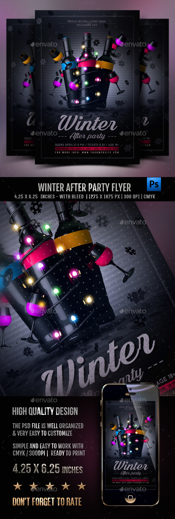 Winter Party (After Party) Flyer - Clubs & Parties Events