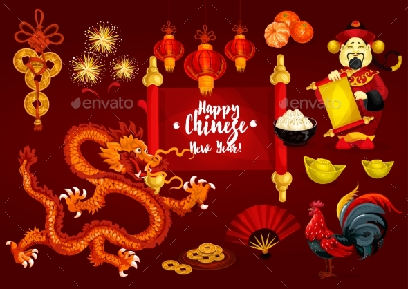 Chinese New Year and Spring Festival Greeting Card - Miscellaneous Seasons/Holidays
