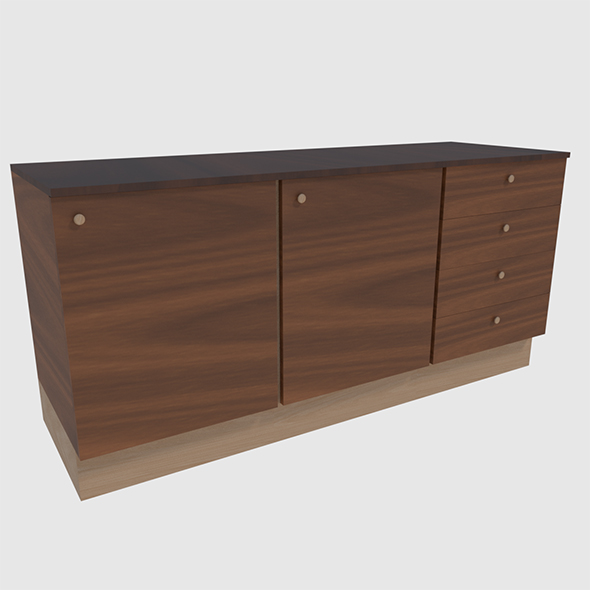 Cabinet 1 - Game Ready - 3DOcean Item for Sale