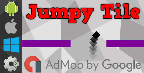Jumpy Tile - HTML5 Game + Admob (Construct 2 - CAPX) - CodeCanyon Item for Sale