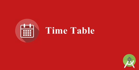 Time Table - CodeCanyon Item for Sale