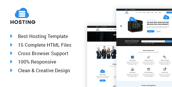 Hosting – Web hosting and technology HTML5 template