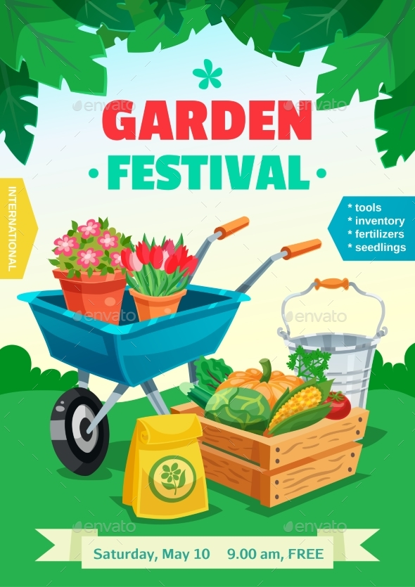 Garden Festival Poster - Backgrounds Decorative