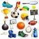 Sport Inventory Decorative Icons Set