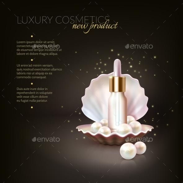 Luxury Cosmetic Pearl Concept - Conceptual Vectors