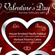 Valentines Day Menu Template V4 - GraphicRiver Item for Sale
