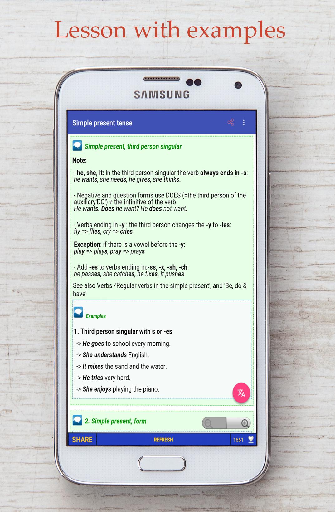 Android Education app - English Grammar