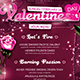Valentines Day Menu Template V7 - GraphicRiver Item for Sale