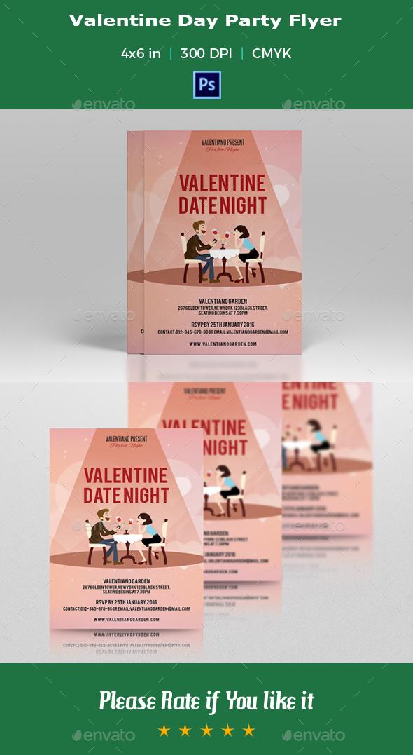 Valentine Party Flyer -V03 - Events Flyers