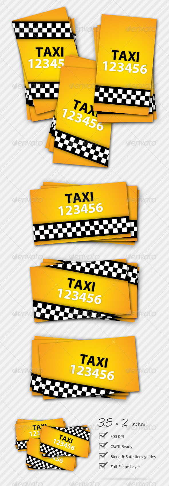 Premium Taxi Business Card - Industry Specific Business Cards