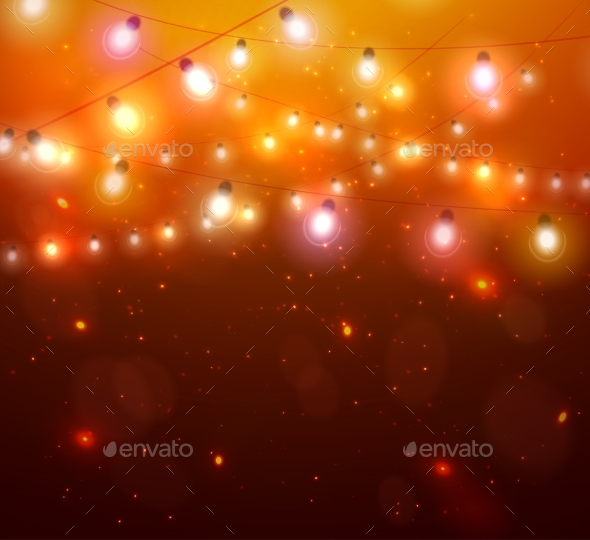 Glowing Christmas Orange Lights - Christmas Seasons/Holidays