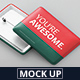 Rectangle Badge Button Mockup - GraphicRiver Item for Sale