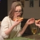 Young Couple Eating Pizza and Drinking Wine - VideoHive Item for Sale