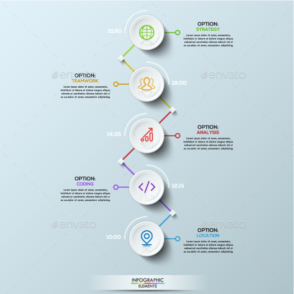 Circle Connection Timeline Infographics - Infographics