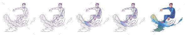 Surfer - Sports/Activity Conceptual