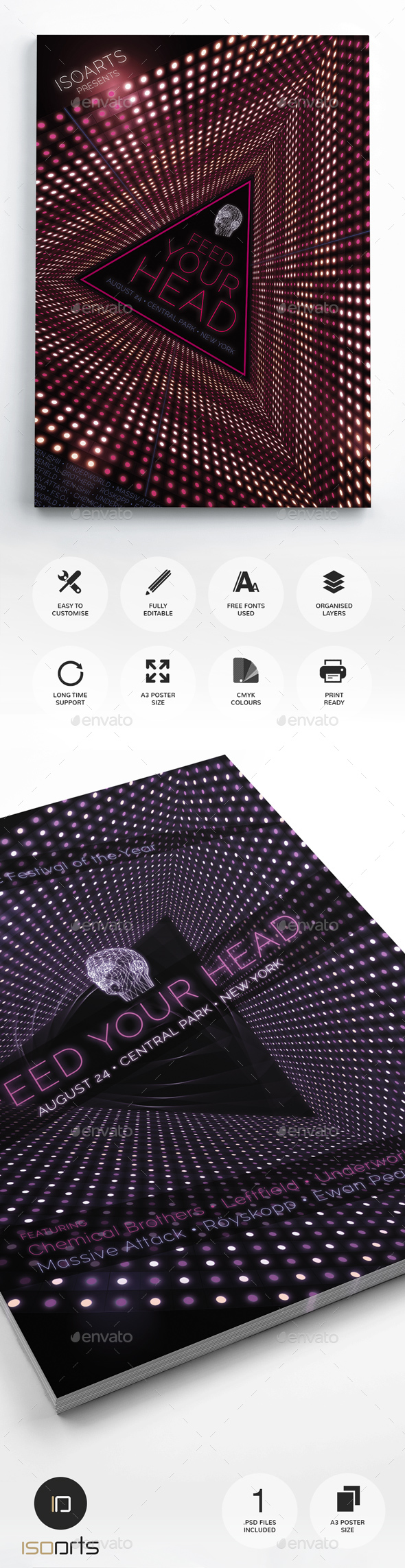 Electro Poster & Flyer Set Vol.2 - Clubs & Parties Events