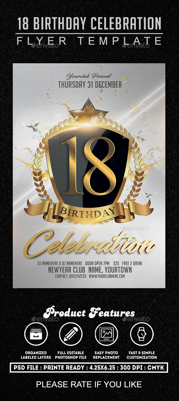 Birthday Celebration Flyer Template By Fas Design Graphicriver