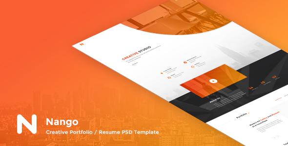Nango – Creative Portfolio, Resume & Agency PSD Template