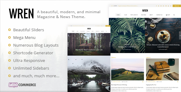 Wren - Responsive Blog, News, & Magazine Theme - Blog / Magazine WordPress