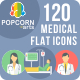 100 Medical Round Flat - GraphicRiver Item for Sale